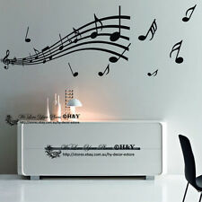 Music Notation Notes Melody Removable Wall Art Stickers Vinyl Decal Decor DIY