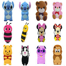 3D Animals Cute Cartoon Silicon Soft Cover Case For ipod touch 4 4th Gen Touch4
