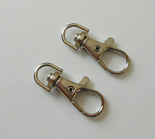 SET OF 2, 5 OR 10 SILVER TONE SWIVEL LOBSTER CLASPS 38mm LONG CRAFT OR JEWELLERY