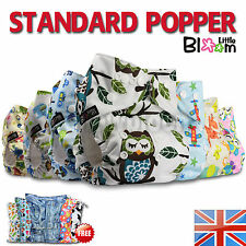 Baby Reusable Cloth Nappy Washable Pocket Diaper STANDARD POPPER Insert 0yr+