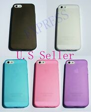 Ultra Thin Soft Gel TPU Rubber Cover Case Skin for Apple iPhone 5 5S- U S Seller