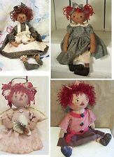 Primitive Doll Pattern by Raggedy Pants Designs Patterns - 4 to choose from