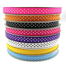 """New 5yards 3/8"""" 9mm Point Printed Cute Grosgrain Ribbon for crafts making U pick"""