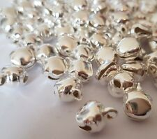 50 X SMALL BELLS,SILVER COLOUR, IRON  BELLS,approx.10MM, GOOD FOR CHRISTMAS