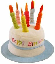 NOVELTY BIRTHDAY HAT GIFT PRESENT IDEA CAKE CANDLES BLUE PINK 30TH 40TH A1028