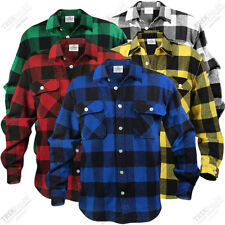 Mens Plaid Shirt Long Sleeve Extra Heavyweight Flannel Plaid Shirt NWT