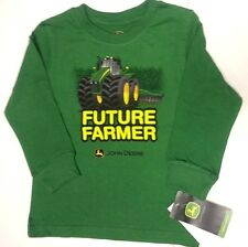 NEW John Deere Green Long Sleeve T-Shirt Future Farmer Tractor Size 12 18 24 mo