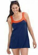 7639     PLUS SIZE 2 PC NAVY/ORANGE SWIMSUIT ASSORTED SIZES AVAILABLE