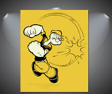 Popeye the Sailor Man Vintage Cartoon Poster - A1, A2, A3, A4 sizes