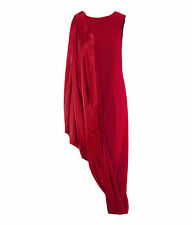 Maison Martin Margiela H&M 6,8,10 Red Asymmetric Hitched Up Evening Drape Dress