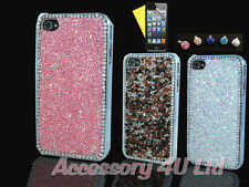 LUXURY SPARKLE CRYSTAL DIAMOND BLING CASE FOR APPLE IPHONE+Screen--UK Seller