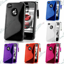 Lot Pack Kit Accessoires Housse Coque Case TPU Silicone Gel S Iphone 4/4S Films