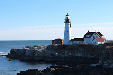 Portland Maine Portland Head Light Lighthouse HD Poster Scenic Landscape Print