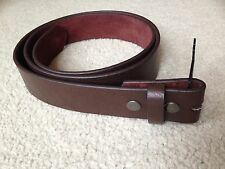 "Brown PU Leather Buckle Belt Strap with Snap On Belt 1-1/2"" wide"