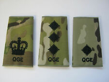 Queens Gurkha Engineers  (QGE)  Rank Slide in Multicam with Black Embroidery