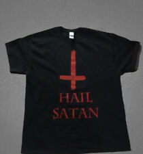 Hail satan inverted cross t shirt satanism satan Small to 2 Extra Large size
