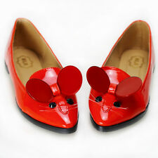 2014 New Red Pet Mouse Patent Leather Comfortable Court Shoes UK Size 2.5-6.5