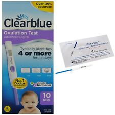 Advanced Clearblue Digital Ovulation Dual Hormone Indicator Tests+Pregnancy Kits