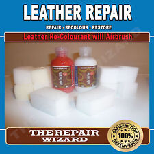 All In One 50ml Dye & 50ml Finish Leather Restoring Repairing Re-Colouring Kit