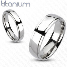 Solid titanium men ring classic beveled wedding band engagement ring