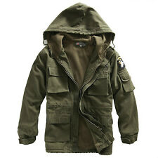 2013 Brand New Mens Jacket/coat Military Canvas Cotton Hooded Warm Outerwear