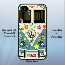 VW Bus 60's Peace & Love Phone Case - Fits iPhone 4/5/6