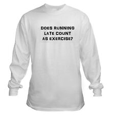 RUNNING LATE EXERCISE FUNNY MOM RUN TIME MANAGEMENT COLLEGE LONG SLEEVE T-SHIRT