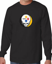 STEAL YOUR FACE STEELERS GRATEFUL DEAD JERRY GARCIA PRO FOOTBALL LONG SLEEVE TEE