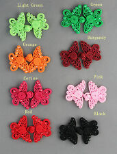 Butterfly Beaded Frog Fastener Button Knots Available 8 Colours  # S18
