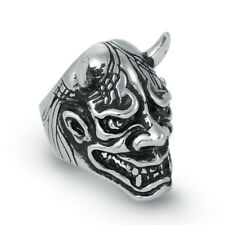 316 Stainless Steel Men Silver Devil Head Mask Ring Jewelry D027 Size 9 10 11 12