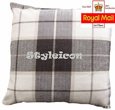 SOFT TOUCH CHENILLE CHECK CUSHION COVER-SIGN OF LUXURY 43 X 43 CM - 5 Colors