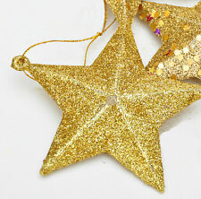LOT OF 6 CHRISTMAS TREE PENDANT DECORATION STAR Christmas tree ornament 9CM