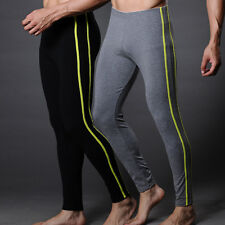 Sexy Men's 100% Cotton Smooth Thermal Long Underwear Pants Trousers Size S~XL