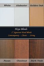 "2"" Signature Real Wood Blinds -6 Color, Factory Custom Made, Width From 6"" ~ 72"""