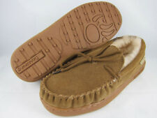 BEARPAW MOC II 2 HICKORY BROWN MOCCASIN SUEDE SHEEPSKIN FUR WINTER US WOMEN SIZE