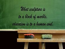 Wall Sticker WHAT SCULPTURE IS TO A BLOCK OF MARBLE, Quote Vinyl Decal EN-28-C9