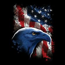 Patriotic American Eagle and Flag USA Cool T Shirt Tee