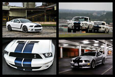 Poster of Ford Mustang Shelby GT350 GT500 Saleen Boss HD Print