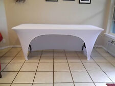 6' Spandex Openback buffet covers,craft/tradeshow,party,event,DJ,wedding, NEW