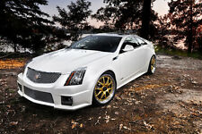 Poster of Cadillac White Left Front CTS-V HD Print Free Shipping