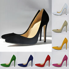 WOMENS Suede HIGH HEEL POINTED CORSET STYLE WORK PUMPS COURT SHOES FL302 UK2-9