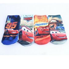 4 Pairs Cartoon Cars Children's  Kids Boys Girls Cartoon  Cotton straight Socks
