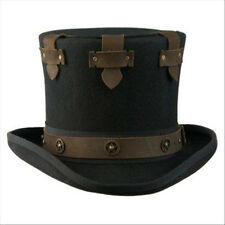 AUSTRALIAN WOOL STEAMPUNK SECRET COMPARTMENT TOP HAT BY CONNER