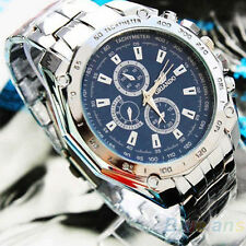 Fashion Mens So Cool Stainless Steel Quartz Analog Hand Sport Wrist Watch BG7U