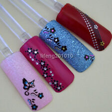 3D Nail Art Rhinestone Sticker Decals Nail Tips Decoration Lace Flower Butterfly