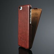 Vintage Handmade Leather Flip Hard Case Cover Skin For Apple iPhone & Samsung
