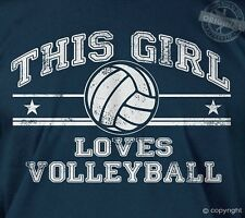 This girl loves volleyball - sports beach hand spike you got served tee t-shirt