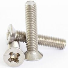 A2 STAINLESS STEEL POZI COUNTERSUNK MACHINE SCREWS POSI CSK SCREW M3 M4 M5