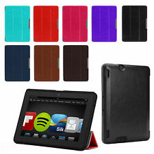 """SMART THIN STANDING LEATHER CASE COVER FOR NEW AMAZON KINDLE FIRE HDX 7"""""""