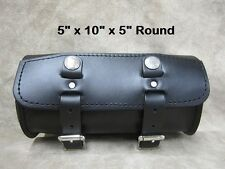 Motorcycle Leather Fork Tool Bag The Leatherworks 100 Made to Order in USA